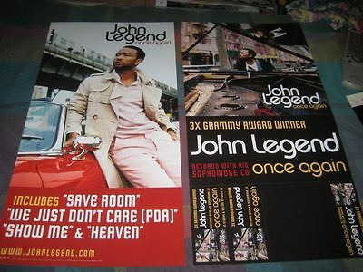 JOHN LEGEND-(once again)-1 POSTER-2 SIDED-12X24-MINT-RARE