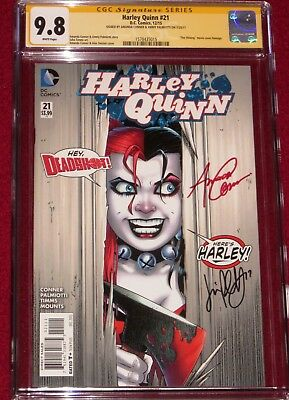 "CGC SS Harley Quinn issue 21 ""THE SHINNING"" homage cover by Amanda Conner!  9.8!"