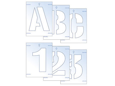Scan SCA9403 Letter & Number Stencil Kit 25mm FREE POST