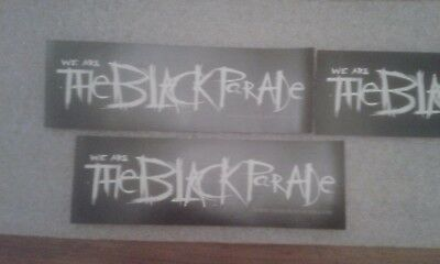 MY CHEMICAL ROMANCE - The Black Parade - RARE Official Promo Stickers x 3