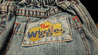 wiggles rare denim shorts size 3x wiggles logo patch and botton
