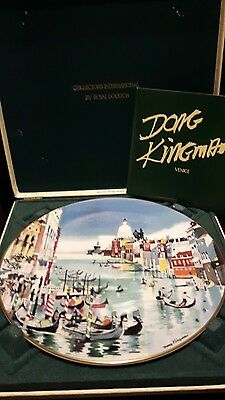 Dong Kingman Royal Doulton Plate Venice  canal 1977 6884/15,000 in orginal case