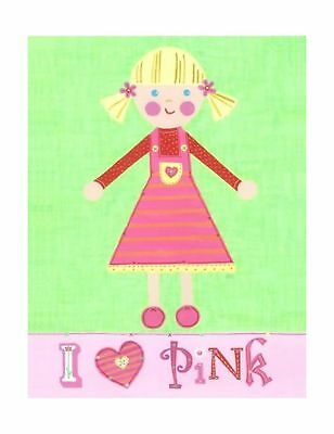 The Little Acorn Painting I Love Pink Girl NO TAX