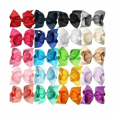 XIMA 5inch Big Hair Bows with Alligator Clips for Girls and Women Bows ... , New