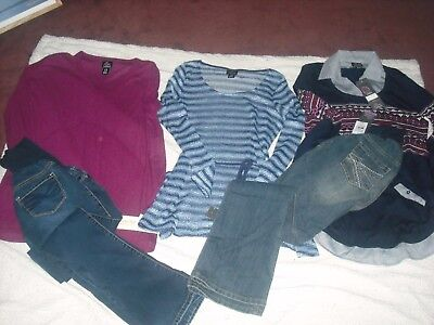 Womens Maternity NWT Oh Baby by Motherhood Lot 5 Pants Tops Size M Retail 192