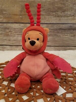 "Winnie The Pooh Bear Disney Store Plush Zodiac Cancer Crab Costume 8"" collection"