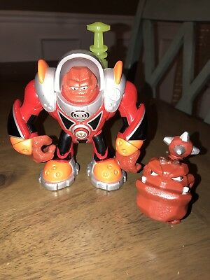 """2007 Talking & Light-Up 5.5"""" Mars Digger #4 Planet Heroes Action Figure (S5)!"""