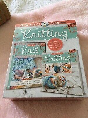 Knitting Book & Dvd Collection ~ New / Sealed