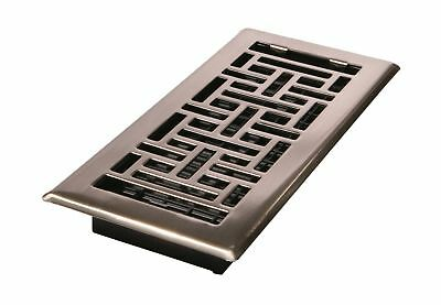 Decor Grates AJH410-NKL 4-Inch by 10-Inch Oriental Floor Register Brus... NO TAX