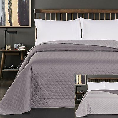 DecoKing 29732Bedspread Double Sided Polyester, Polyester, graphit silber, 240