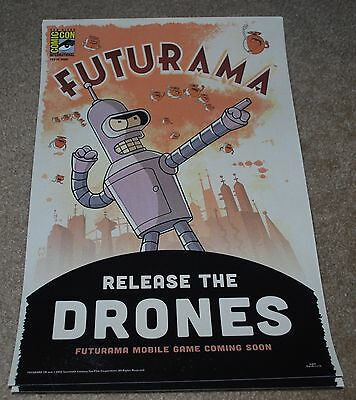 Sdcc 2015 Exclusive Fox Futurama Poster Limited Edition 795/3000