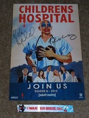 Sdcc 2014 Wb Adult Swim Childrens Hospital Season 6 Signed Poster