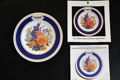 """FRANKLIN MINT ROYAL WORCESTER Chelsea Flower Show """"Chelsea Anniversary"""" plate."""