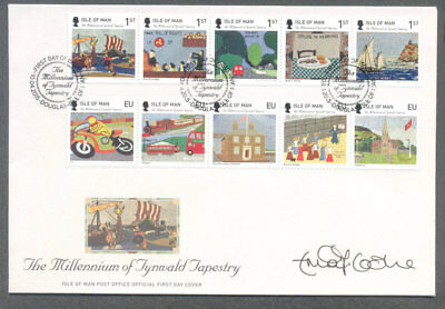 Isle of Man-Tynwald-First day cover-Tapestry