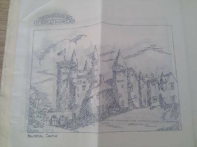 "Vintage Briggs ETCHINGS embroidery Transfer 12"" x 12"" - Balmoral Castle"