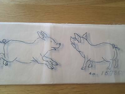 "Vintage Briggs 30"" x 4"" BORDER transfer  - Pigs"