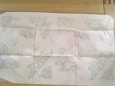Butterflies - LARGE Vintage Embroidery Transfer sheet from the USA