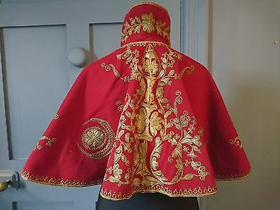 Superb 1890s Hand Embroidered Ottoman Shoulder Cape - Victorian Antique Fashion