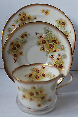 GEORGE JONES CRESCENT CHINA 1907c TRIO CUP SAUCER PLATE BRITISH EARTHENWARE