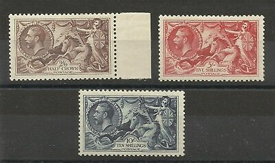 A Set of George V 1934 Re-engraved Seahorses, Very Lightly Mounted Mint.