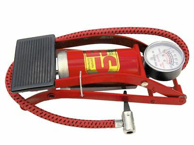 Race X Single Barrel Cylinder Air Inflator Foot Pump Car Van Bicycle Bike Tyre