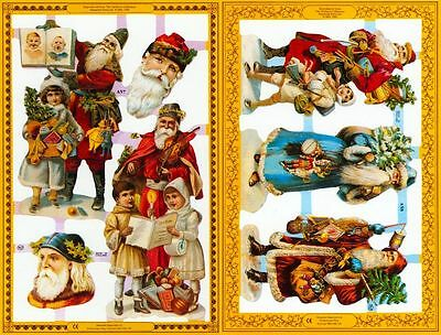 Mamelok Golden VictorianScraps - Die Cuts - A57 / A58, Old-Time Santa Motifs (2)