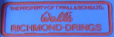VINTAGE 1960's 1970's WALLS T. Wall & Sons Ltd. ice-cream meat dairy Richmond