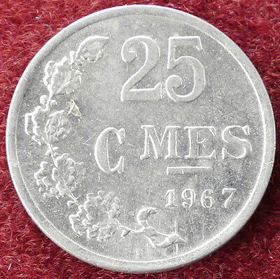 Luxembourg 25 Centimes 1967 (D1204)
