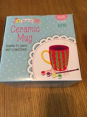 Paint Your Own Ceramic Mug Boxed Ideal Crafts christmas gift