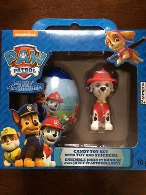 New Paw Patrol Marshall Egg and candy toy set  With Toy ! Ages 3 And Up