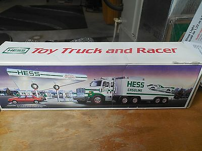 1988 HESS Gasoline Toy Truck and Racer w/ Friction Motor