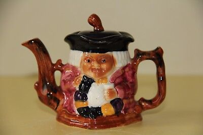 Staffordshire SHORTER & SON Double sided Toby small TEAPOT,