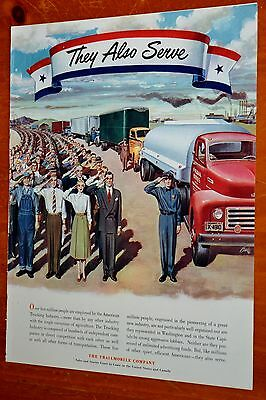 1950 Trailmobile Ad - Trucking Industry Workers Truck Drivers Semi Tanker Ford