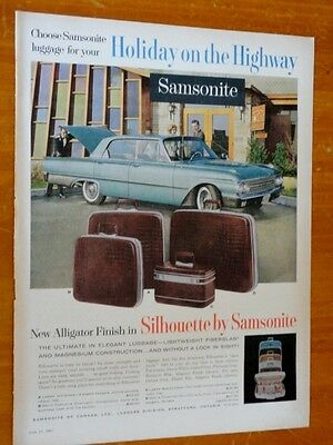 1961 Ford Galaxie Four Door Hardtop For Canadian Samsonite Luggage Ad - Vintage
