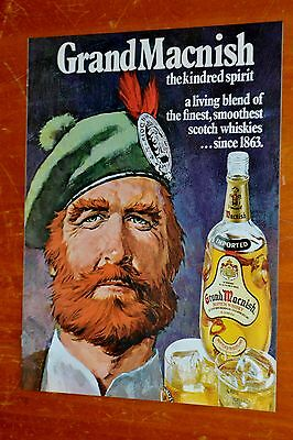 Canadian 1974 Grandmacnish Scotch Whiskey Vintage Ad - Retro Old School