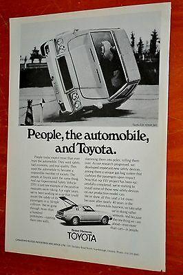 1976 Toyota Esv Experimental Safety Vehicle In Roll Over Test Ad - Retro Celica