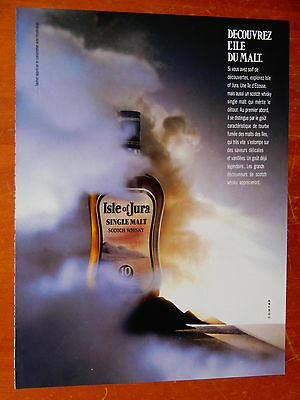 French 1985 Isle Of Jura Single Malt Scotch Whisky Ad - Retro 80S Francais