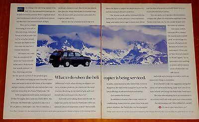 Black 1994 Nissan Pathfinder Se 4 X 4 In The Snowy Mountains Ad - Retro 90S Suv