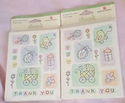 American Greeting Lot of 20 Blank Cards With Envelopes NEW