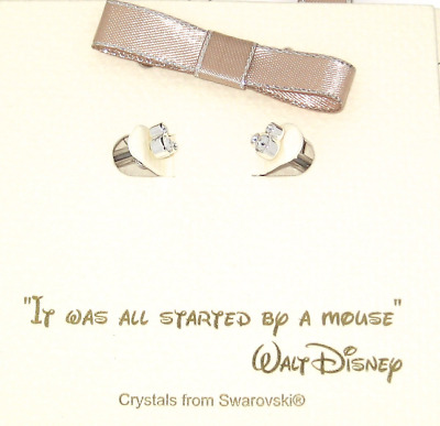 Disney Authentic Earrings✿Mickey Mouse Icon Made with Crystals from Swarovski ®