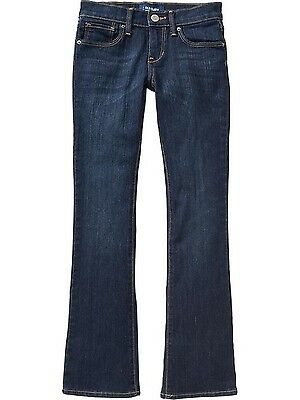 NWT Old Navy Girl's Dark Wash boot cut denim jeans pants Size 14