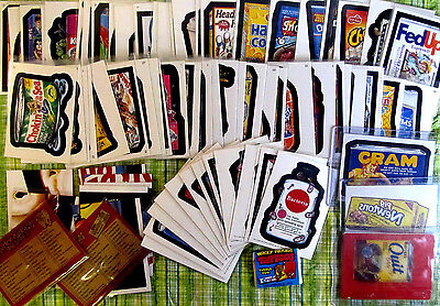 Wacky Packages- Old School 1 & 2, ANS 2 2005, inserts magnet tattoos 70+ pieces