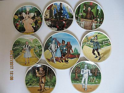 Knowles Wizard Of Oz  Limited Edition Complete Set Of 8 Plates 1977 - 1979