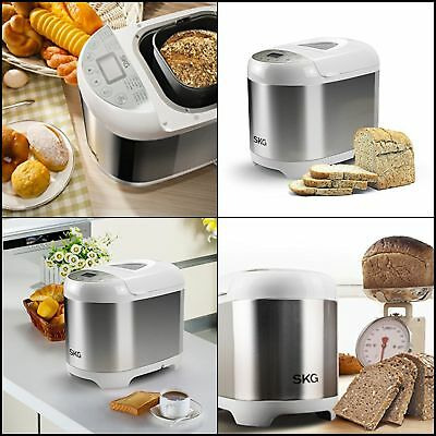 SKG Automatic Bread Machine 19Programs,3Loaf Sizes,3Crust Colors,1Hour Keep Warm