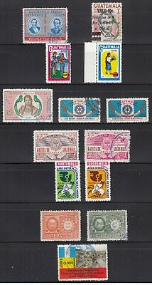 Guatemala 1974  A mostly used airmail collection. All are sound.