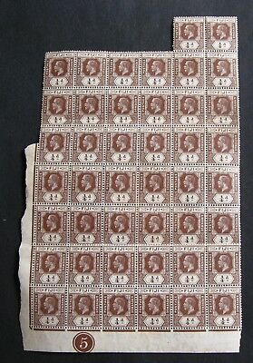 FIJI Scarce Block. Crease on 2 stamps. Cat.over £100