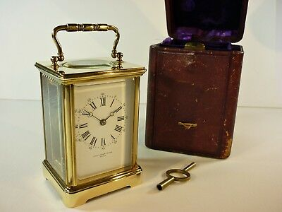 Antique Hamilton & Inches Cased Carriage Clock French F.A. Margaine Movement GWO