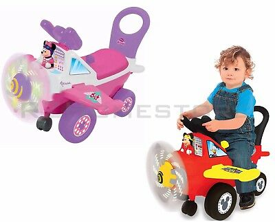 NEW Disney Mickey Mouse & Minnie Mouse Activity Plane Light & Sound Ride-On Toy