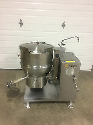 Groen DHT/P-20 Jacketed Tilt Steam Kettle Nat. Gas With Lid 20 Gallon Nice!