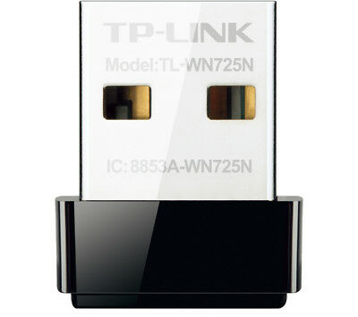 TP-LINK TL-WN725N USB Wireless Adapter N150 Up to 150 Mbps N150 Black USB